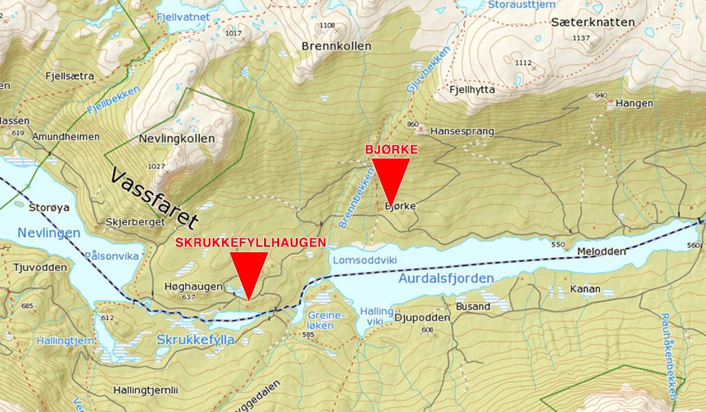vassfaret kart Skrukkefyllhaugen | vassfaret kart